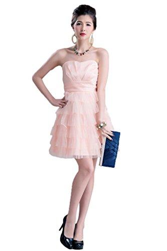 Drasawee Damen A-Linie Kleid Pink