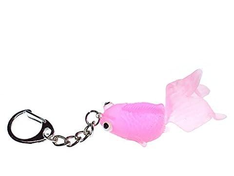 Koi Goldfish Key Chain Key Ring Miniblings Necklace Key Ring Neon Pink