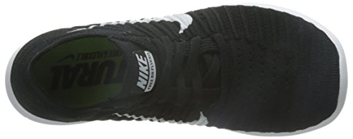 Nike Wmns Free RN Flyknit, Scarpe da Corsa Donna Nero (Schwarz/Weiß)