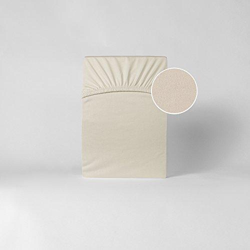 Spannbettlaken Bettlaken Microfaser 140x200-160x200 cm/Spannbetttuch Spannleintuch aus 100% Polyester in naturweiß/creme für Standardmatratzen
