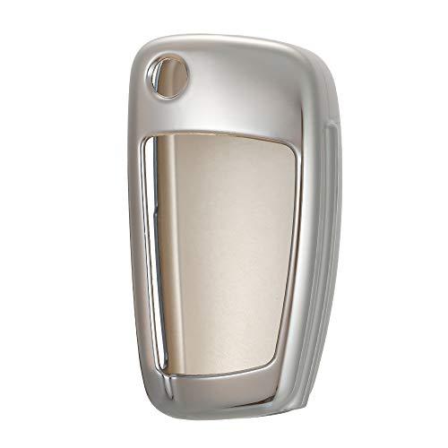 Walmeck TPU Autofernbedienungen Hülle Schlüsselanhänger Schlüsselhülle Gehäuse für Audi A1 A2 A3 Q2 Q3 S3 Schutzhülle