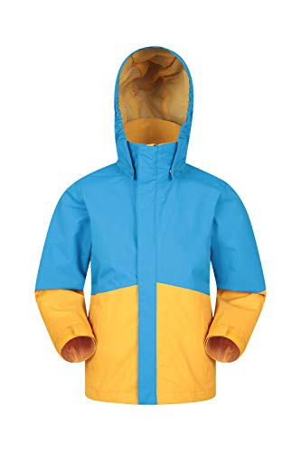 Mountain Warehouse Asteroid Kids Jacket - Waterproof Childrens Rain Jacket, Taped Seams Girls & Boys Coat, Lightweight, Ripstop - for Walking, Travelling
