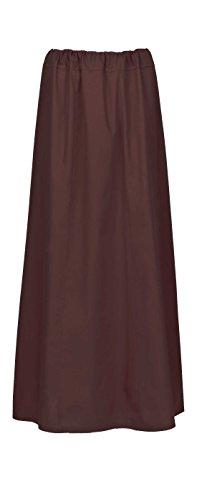 Maharanis Maharanis Fairtrade Sari Unterrock 10 verschiedene Farben Einheitsgröße bis Gr. 44 dunkelbraun