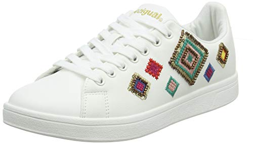 Desigual Damen Shoes (Cosmic_Exotic Diamond) Sneaker, Weiß (Blanco 1000), 38 EU Diamond Sneaker