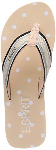 ESPRIT Damen Glitter 1 Pantoletten, Beige (Nude 685), 39 EU Damen Schuhe Glitter