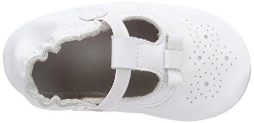 Robeez Pretty Girl Unisex Baby Krabbel- & Hausschuhe Weiß (Blanc)