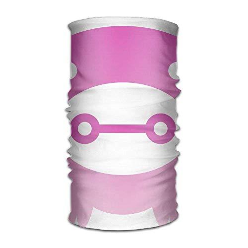 QIOOJ Stirnband rosa Schwein-Logo Kopfbedeckung Bandanas nahtlos Kopftuch Outdoor Sport Kopfschmuck Laufen Reiten Skifahren Wandern Stirnband -