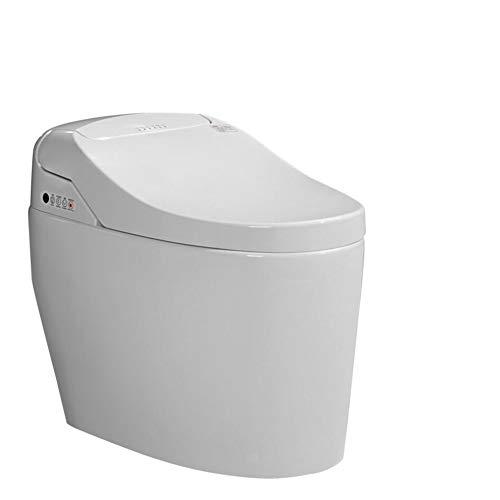 BTSSA Dusch-WC mit Bidetfunktion tankless Komplettanlage,Intelligente konstante Temperatur Reinigung Toilette WC Sitzheizung Trocknen Massage Reinigung Nachtlicht