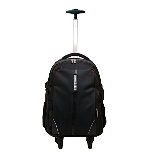 Phoenix Technologies PHDISCOVERY - Mochila Trolley de Nylon con Ruedas para portatil de hasta 17', Color Negro
