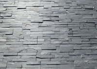 Parement exterieur pierre naturelle Ardoise barrettes 38x18 ep. 0,8/1,3 cm - 0.44m² Commander le produit (0.44m²)