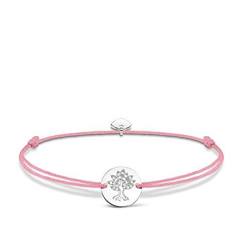 THOMAS SABO Damen-Armband Little Secrets Lebensbaum 925 Sterling Silber Rosa LS071-401-9-L20v
