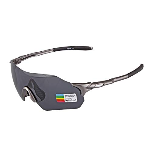 LBWNB Sport-Sonnenbrille-Outdoor Men es Women es Cycling Sonnenbrille Reflective PC Explosion-Proof Sonnenbrille,Black