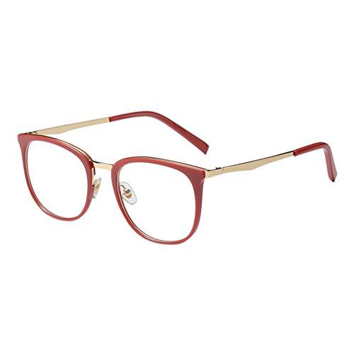 Meijunter Oversized Oval Rahmen Ultraleicht Retro Klare Linse Glasses Mode Dekorativ Eyeglasses Nicht-Verschreibung Voller Rahmen Im Freien Persönlichkeit Brillen