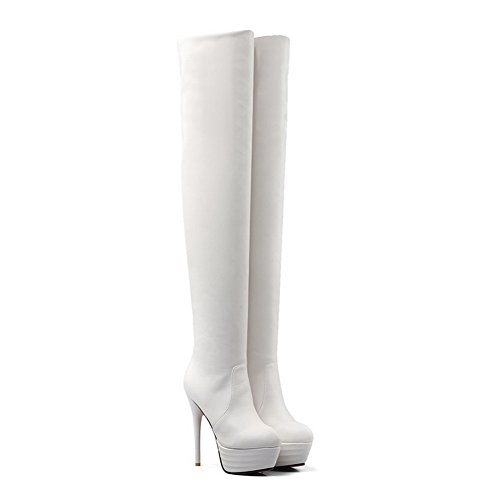 BalaMasa  Abl09793, Plateforme femme Blanc