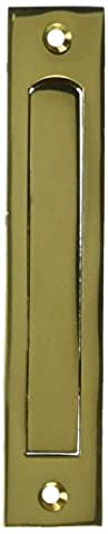Deltana EP6125U3 6 1/4-Inch Solid Brass HD Edge Pull