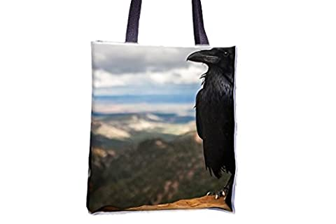 Crow, Raven, Bird, Black, Animal, Nature allover printed totes, popular totes, popular womens' tote bags, professional tote bag, large professional tote bags, best tote bags, best large tote bags