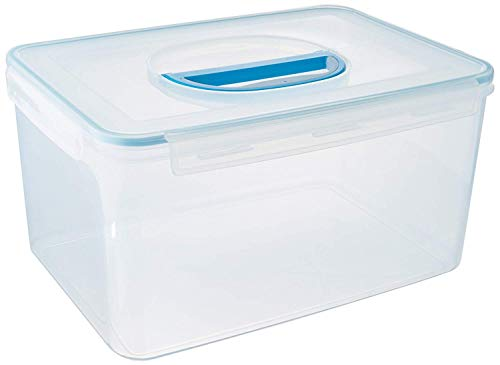 Big Size Food Storage Container Airtight with Handle Large 48.6 Cup (1 handle, Clear) by komax