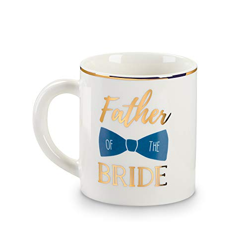 Kate Aspen 23219NA Father of the Bride 16 oz. White Coffee Mug Kaffeebecher, Goldfolie, gold -
