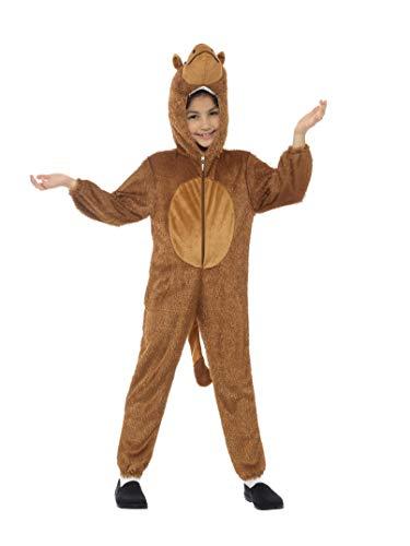 Smiffys Kinder Unisex Kamel Kostüm, Jumpsuit mit Kapuze, Größe: S, 30017