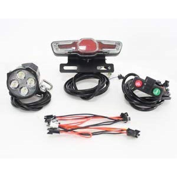 36V 48V LED Tail Light Electric Scooter E-bike Turn Signal Rear Lamp 60*110*35mm
