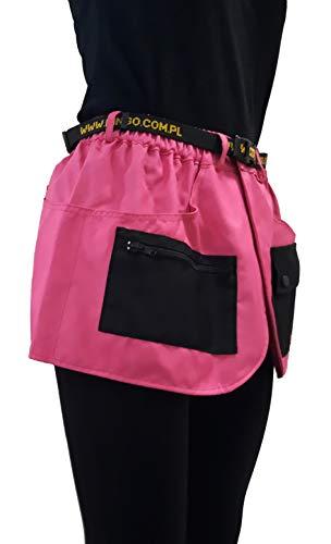 Dingo 16454 Trainingsgürtel für Handler, Agility Trainer, Helfer, Handarbeit im Sportrock Stil, viele Taschen, Pink -