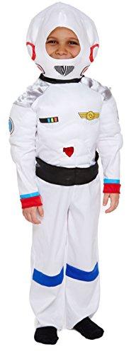 Astronauten Kostüm Kid - Henbrandt Kinder Weiß Astronaut Space Boy Kostüm