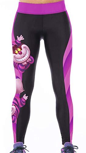Aventy Damen Leggings/Leggings, lang, lang, Stretch, für Fitness, Laufen, Pilates, Gymnastik, Skinny Pants 8/10/12 Gr. Einheitsgröße, Splicing - Party Animal Kostüm Club
