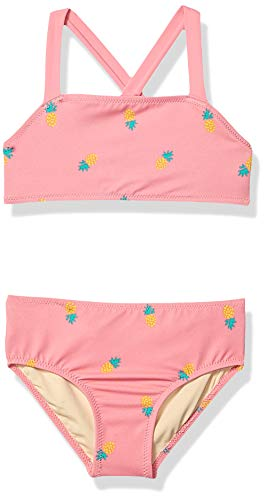 Amazon Essentials Mädchen Bikini-Set 2-teilig, Pink Pineapple, US 4T (EU 104-110)