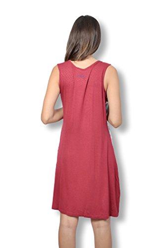 SMASH - Robe femme sans manche - Robe femme taille XL imprimée de motifs multicolores Rouge