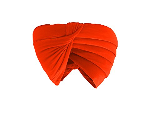 Gurdip Store Men's  Unstitched Casual 5 mtr Cotton  Orange Turban , 1...