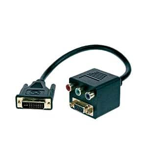 CABLING® Cable adaptateur DVI-I vers VGA + 3 RCA