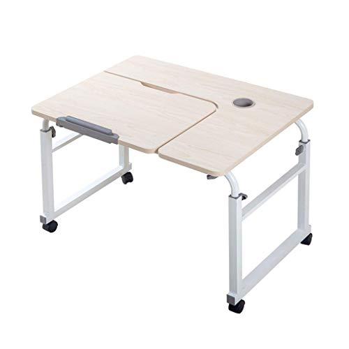 JOLLY Beweglicher beweglicher hölzerner Tisch für Innenpicknick-Picknickparty Camping & Dining (Farbe : Weiß, größe : 80x60x55-85cm)