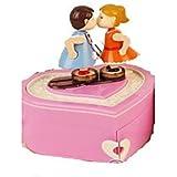 Caja de música Con Forma de Corazón Hobbies de Tiempo Libre Plástico Mujer Niñas´