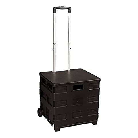 School Outfitters de Nor iyg1078So Norwood Commercial Furniture Collaps ible universel Rolling Organiseur Mort with Adjustable Handle, Wheels and Lid, Black,–AZ