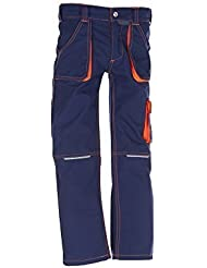 6111 Planam Junior Bundhose marine/orange