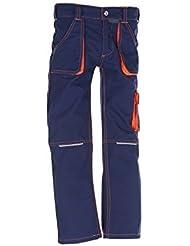6111 Planam Junior Bundhose marine/orange