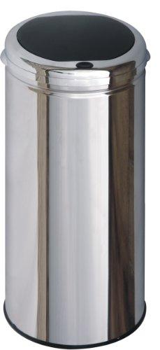 Kitchen Move BAT-42LHJ AS Contemporain Poubelle Semi Automatique One Touch Inox/ABS 42 L