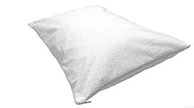 Highliving ® Zipped Terry Towelling Waterproof Pillow Protectors Pair Anti Allergy Dust Mite Proof