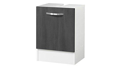 KESPER Waschbeckenunterschrank Como, Breite 40 cm graphitfarben, weiß