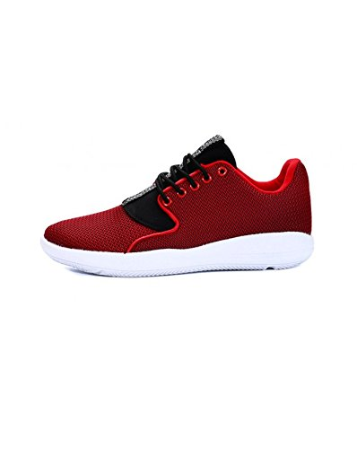 BestStyle - Chaussures hommes baskets rouges Rouge