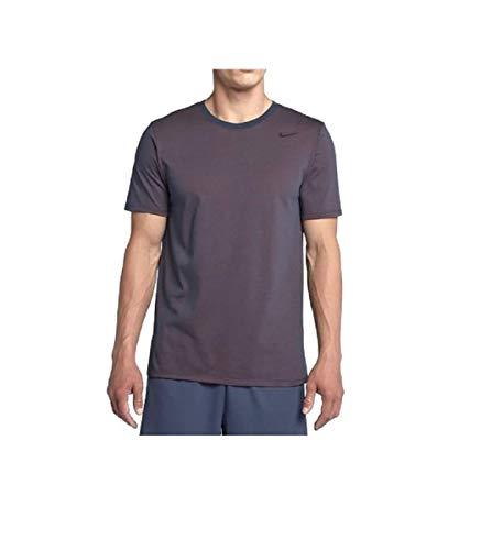 Nike Herren Dri-Fit Cotton Kurzarm 2.0 T-Shirt, blau (thunder blue/hyper crimson/heather/Black), S