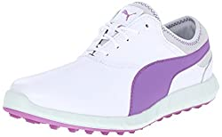 PUMA Women s Ignite Golf WMNS Golf Shoe White/Purple Cactus 7 B(M) US