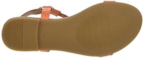 Inuovo Damen 7114 T-Spangen Sandalen Orange (Sunburn)