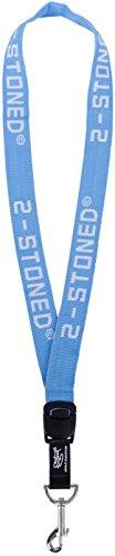 2012 Halsbänder (2Stoned Original Schlüsselband Classic Logo in Hellblau 2,5cm breit)