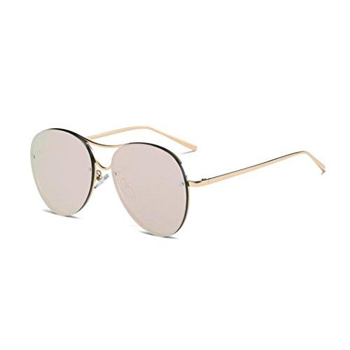 Xshuai Hochwertige Anti- UV Frauen Männer Vintage Retro Gläser Unisex Fashion Aviator Spiegel Objektiv Sonnenbrillen (A)