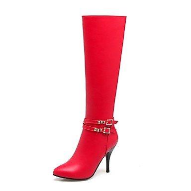 Rtry Chaussures Femme Personnalisé Matériel Hiver Courroie De Cheville Bottes De Neige Bottes De Mode Bottes De Combat Bottes Stiletto Talon Fermé Toe Tip Us6 / Eu36 / Uk4 / Cn36