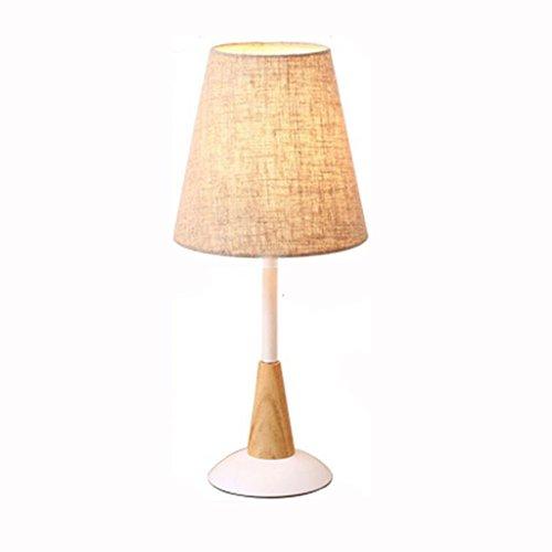 Rollsnownow Tischlampe Schreibtischlampe Tisch Licht Schreibtisch Licht Nacht Licht Eisen und Tuch gemacht braune Farbe LED oder Glühbirne Kappe Druckknopf Schalter Studie Wohnzimmer Schlafzimmer Bett 50cm * 20cm