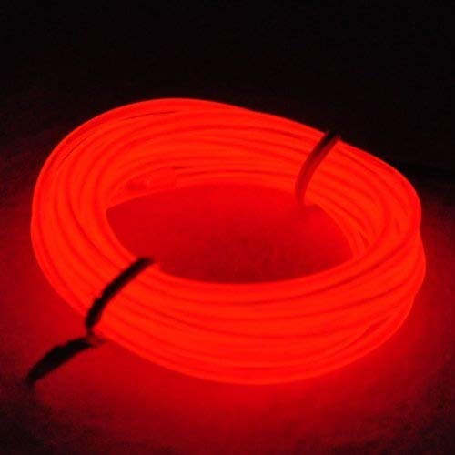 amasawa luz de neón el alambre con recargable Pack – resistente al agua luz línea de cables luminoso para fiestas y para decoración de Halloween