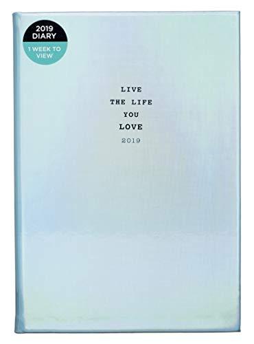 Whsmith 2019A5Live The Life You Love blu olografico diario settimanale