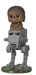 Funko- Pop Deluxe: Star Wars: AT-ST w/Chewbacca,, Standard (27023)